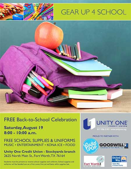 Free Back to School Celebration: Gear Up 4 School