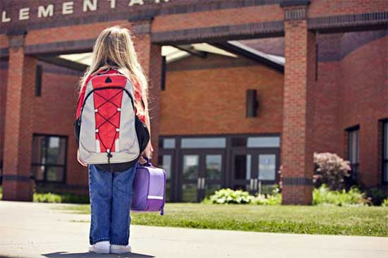 Child nervous about first day of school