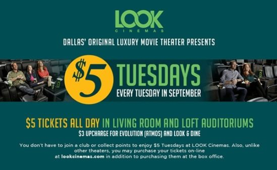 $5 Tuesdays at Look Cinemas