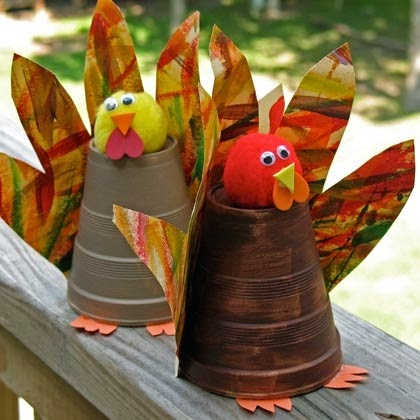 paper cup turkey - thanksgiving craft