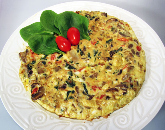 Spinach, Mushroom and Tomato Frittata - North Texas Kids Magazine