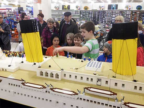 Titanic LEGO Ship Mall - North Texas Kids