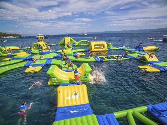 Altitude H2O - floating water park - North Texas Kids