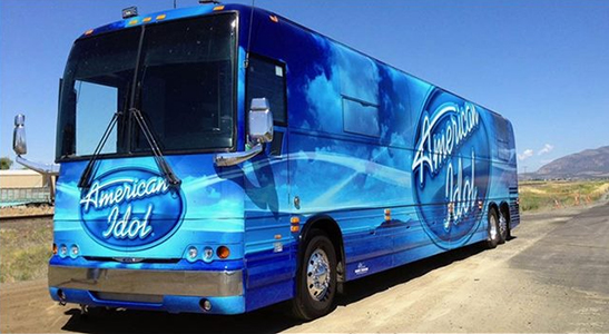 American Idol Audition Bus