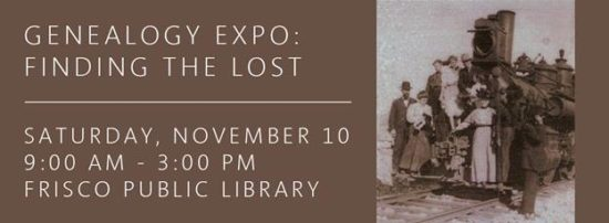 Genealogy Expo at Frisco Library