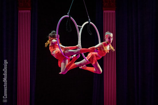 Gitana Doyle and Emily Fassio - Lone Star Circus - North Texas Kids