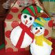 Hand-Stitched Snowman Ornament or Gift Topper