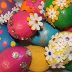 Easter Egg Decorating Idea #3: Painted Bling Eggs