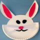 Easy Kids Crafts : Paper Plate Easter Bunny Craft