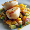 Grilled Scallops with Cucumber & Mango Salsa