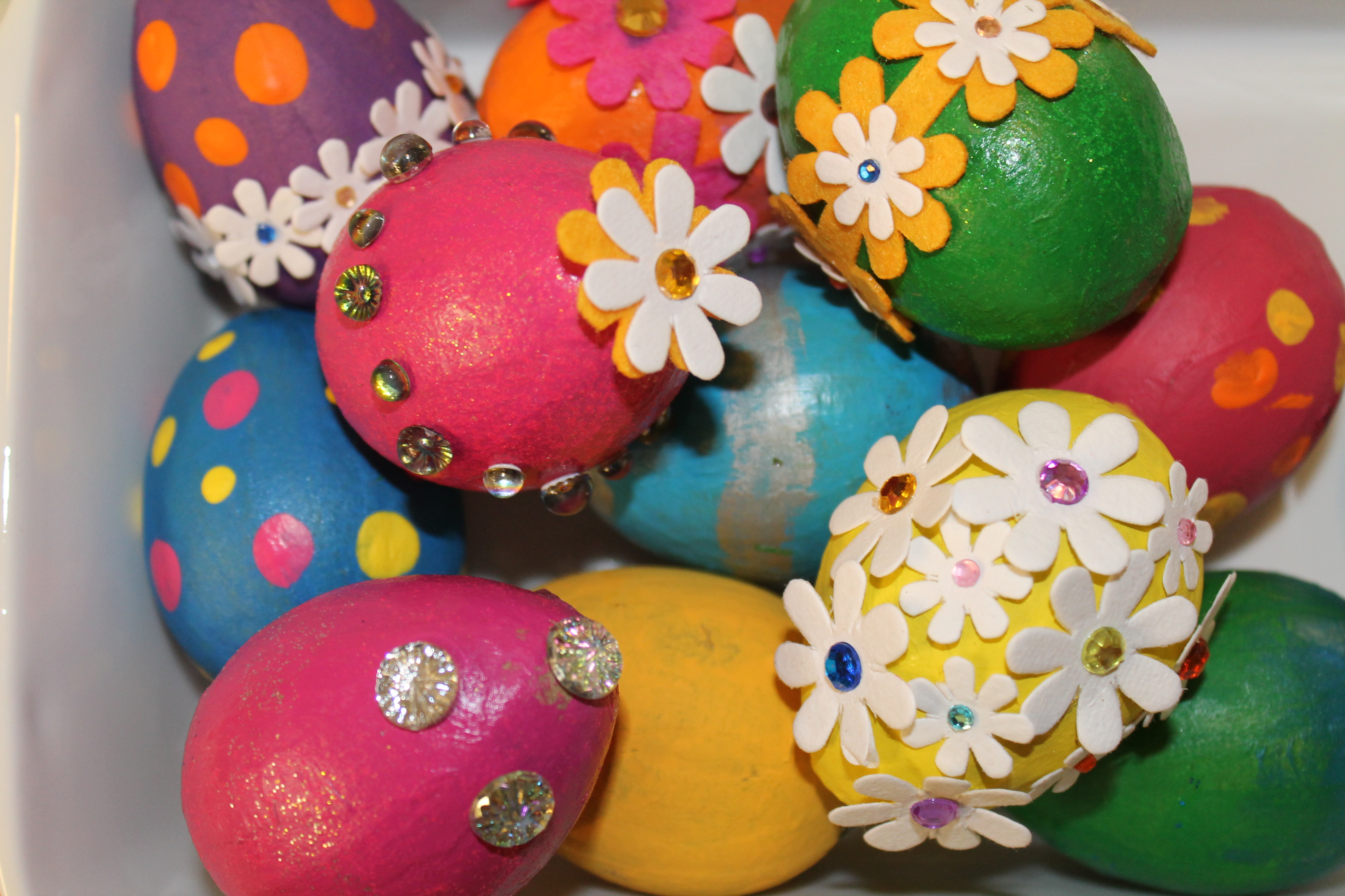 Easter Egg Decorating Idea #3: Painted Bling Eggs | North ...